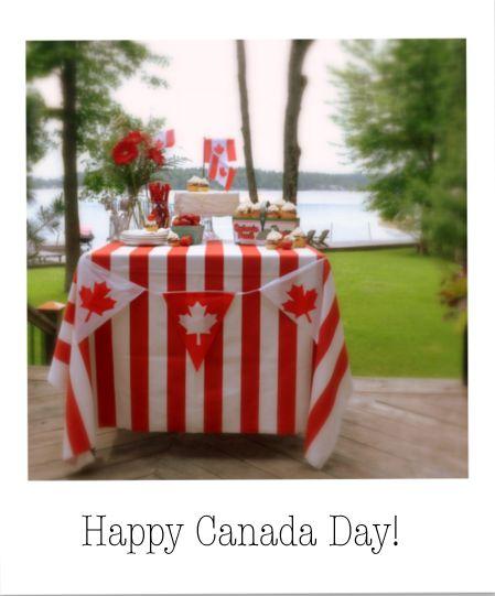 Canada Day Dessert Table