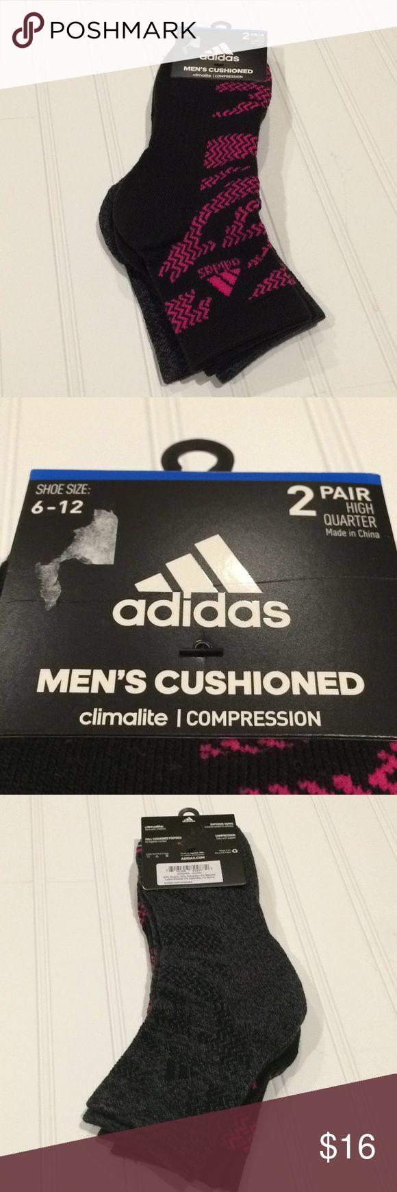 Adidas men's cushioned socks Climalite-Compression-Full cushioned footbed-High quarter socks adidas Underwear & Socks Athletic Socks