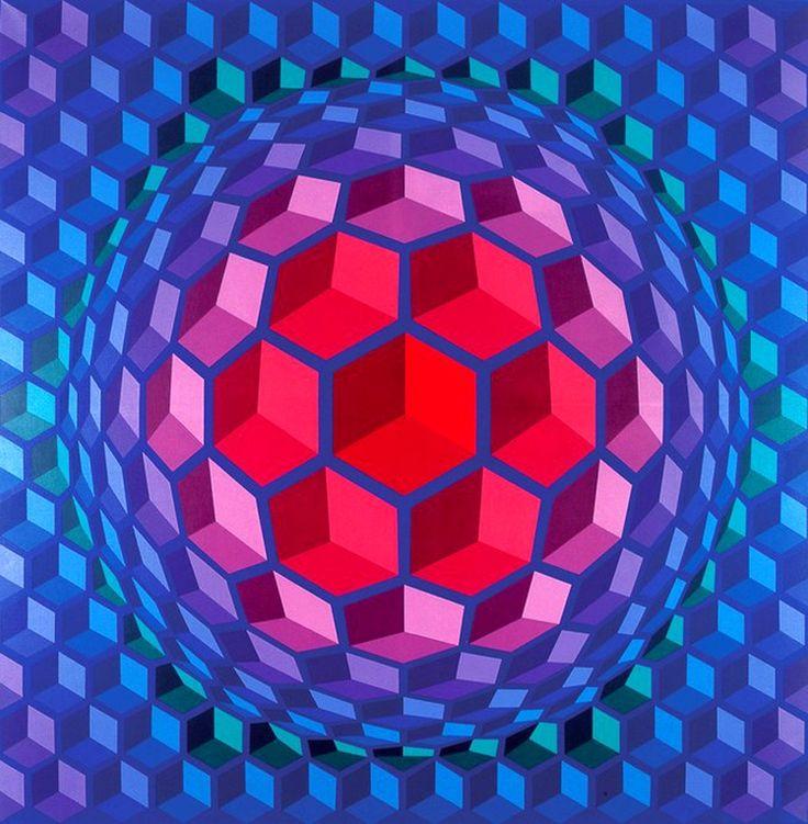 Victor Vasarely (1908-1997) - Cheyt pyr (1970-71) http://jpdubs.hautetfort.com/archive/2010/07/29/l-op-art.html