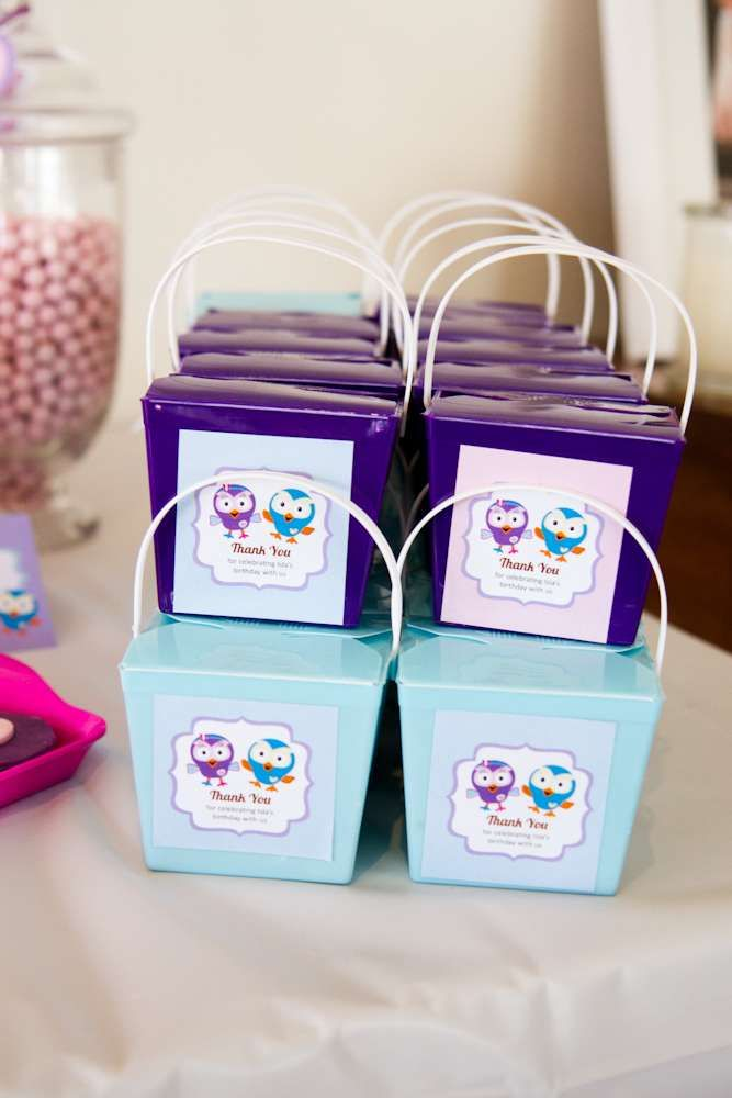Giggle and Hoot Owl Birthday Party Favors!  See more party planning ideas at CatchMyParty.com!