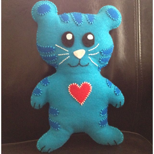 """This is a felt """"Tigey"""" doll I made for my daughter (from Daniel Tiger's Neighborhood on PBS)."""