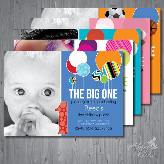 47 best Custom Invitations images – The Big One Birthday Invitation