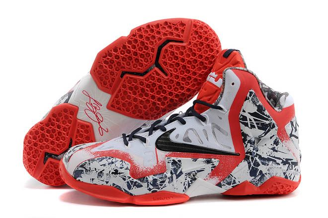 White/Red with Navy Blue Colorway LeBron Sneakers for Men - Nike Air Max  King