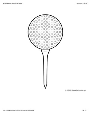 golf balls coloring pages - photo#22