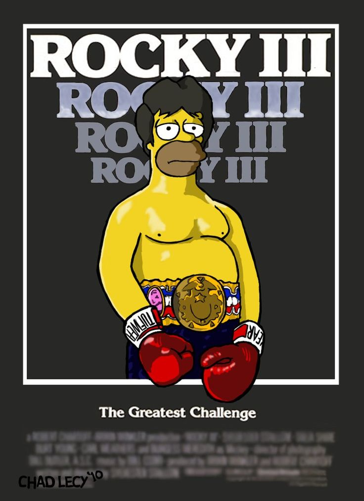 the  simpson art | Homer Simpson in Rocky III by Classy-Zombie