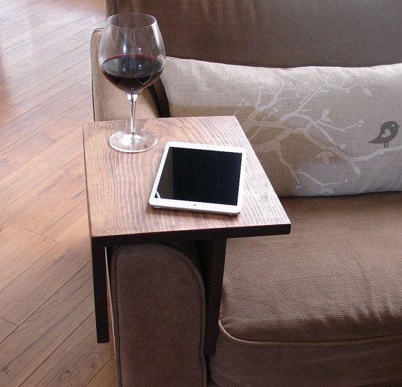 Jednoduše Tabulka Děsivý Couch Pohovka Arm Rest Wrap zásobník pro Tablet