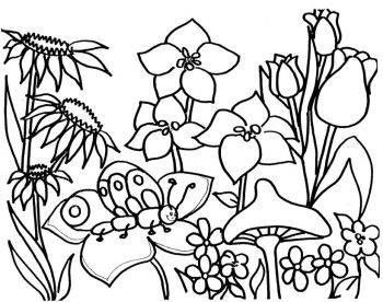 Spring Flower Garden Coloring Pages