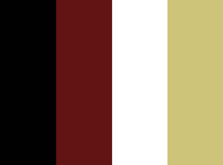color combo - red gold black white