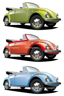 old-fasioned roadster © Gennady PoddubnyVw Beetles, Beetles Mania, Style, Cars Drawing, Old Fashion Cars, Cars Vw