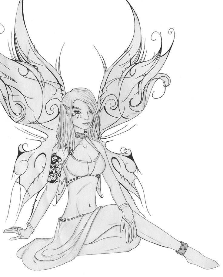 dark fantasy fairies coloring pages | 118 best images about Goth Coloring Page on Pinterest ...