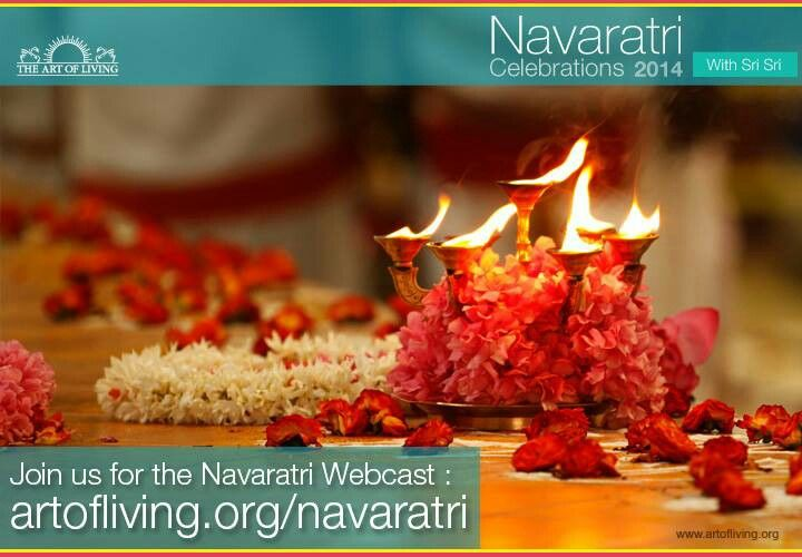 Navaratri begins. Are U going to Art Of Living Ashram or watch it on LIVE webcast?