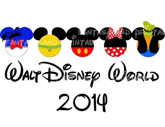 Walt Disney World Fab Five Mickey Gang Family Trip 2014 DIY Printable Iron Transfer Disney trip shirt vacation Disney Cruise Wedding Goofy