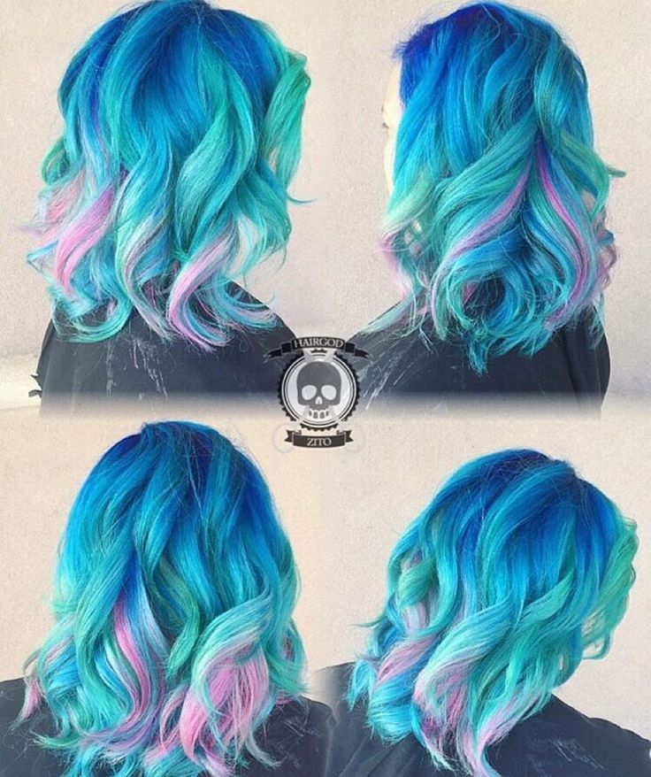 blues & pinks...this is so pretty! I don't think I would ever be brave enough