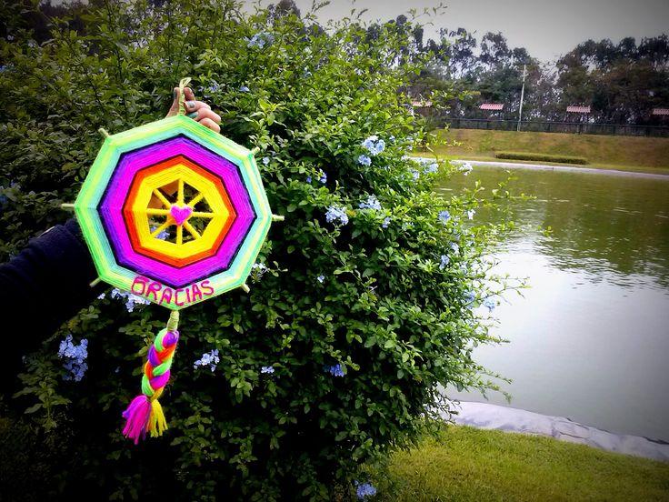 Colgante Mandala de Gratitud QHISPI SISA.   [Flor de libertad/ Flor resplandeciente ] // [ Freedom flower/ shineth flower]