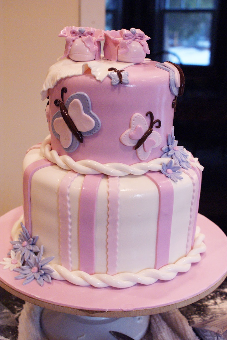butterfly baby shower cakes | Sweet T Bakes...: Cake for Breakfast Anyone?