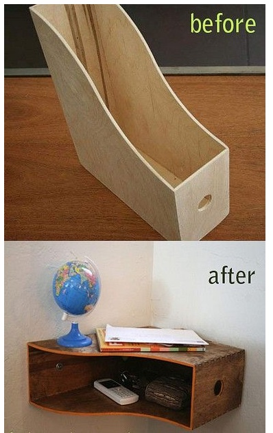 Magazine holder as corner storage
