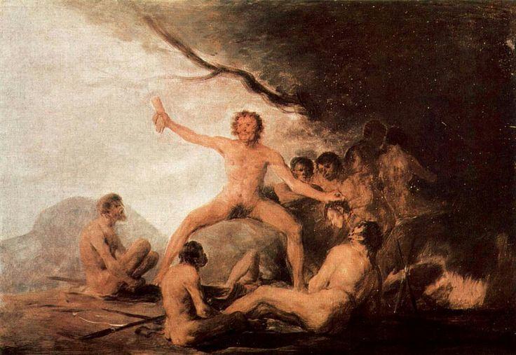 Escena de canibalismo,1800-1808.