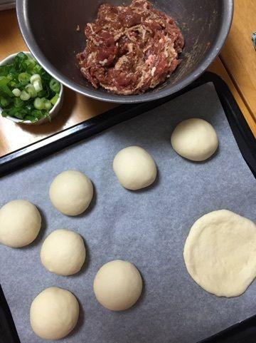 胡椒餅(フージャオピン)|*ぷくぷくまんぷくぶろぐ* 8等分にして丸めて生地伸ばして