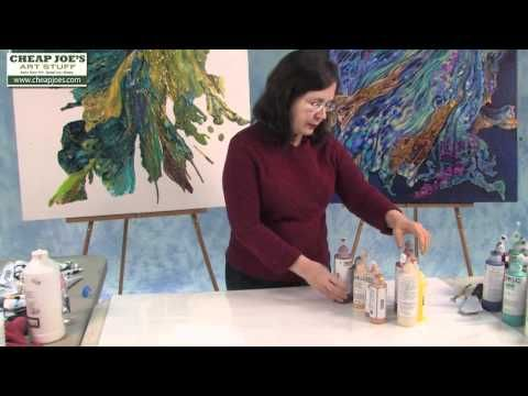 Debbie Arnold-Pouring with Liquitex Acrylic Gloss Medium