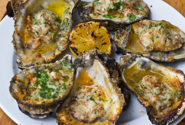 Hugo's Oyster Bar - RC's Chargrilled Oysters-Hand-shucked oysters and fried mac 'n cheese in Roswell