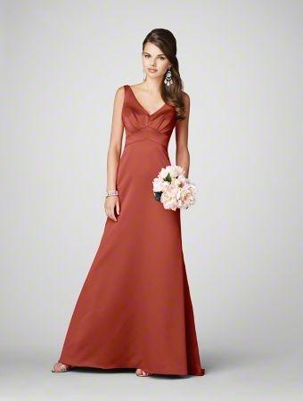 burnt orange bridesmaid dresses