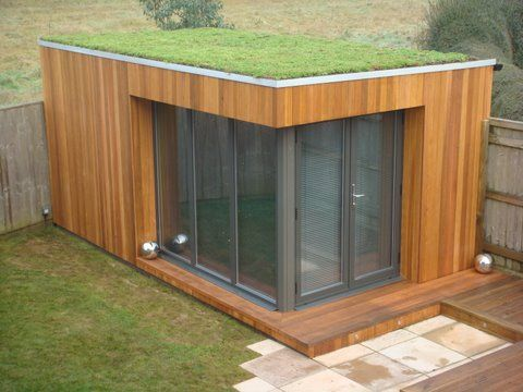 Click here to read all about our eco friendly and green Garden Rooms. #Sedum #gardenroom #home #garden www.gardenlodges.co.uk