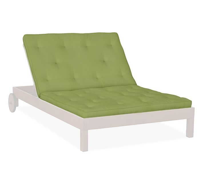 Universal Tufted Double Chaise Cushion Outdoor Canvas Jade Green