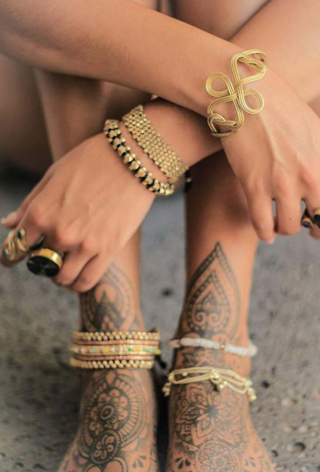 Psy foot tat...jewellery by Gypsy Roots Collection