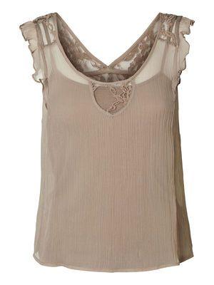 Laced Sleeveless blouse, Moon Rock, main