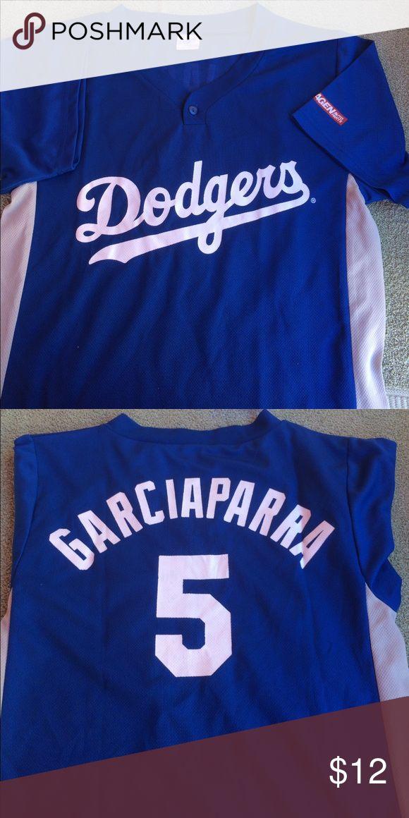 Los Angeles Dodgers Garciaparra #5 Jersey Shirt Blue and Gray Los Angeles Dodgers Jersey Shirt. Youth XL Shirts & Tops