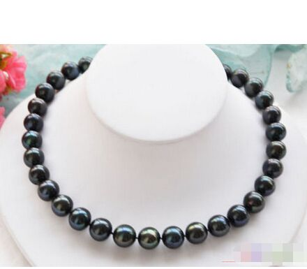 """Cheap freshwater pearl necklace, Buy Quality necklace a directly from China pearl necklace Suppliers: A P4263 Huge 17"""" 14mm black round FRESHWATER PEARL NECKLACE 925ss"""