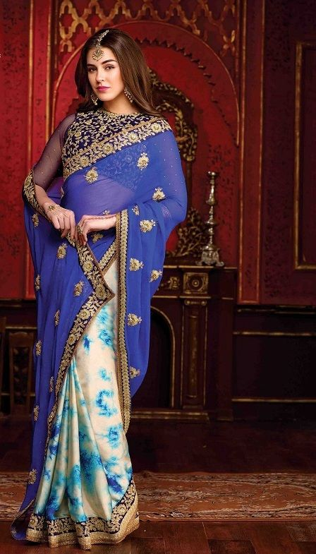Chiffon Saree, namaste fashion