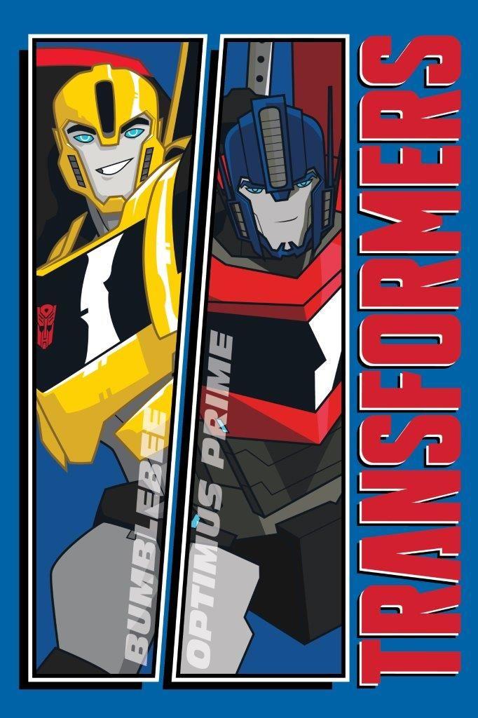 Reczniki dziecięce w kolorze niebieskim z Transformersami