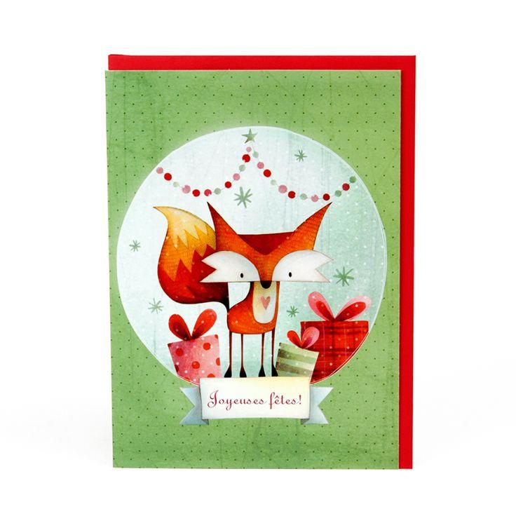 Carte de Noël Renard en Fête KETTO Christmas Card Christmas Fox // Sans inscription. // Blank. // #CarteDeNoël #ChristmasCard #Ketto
