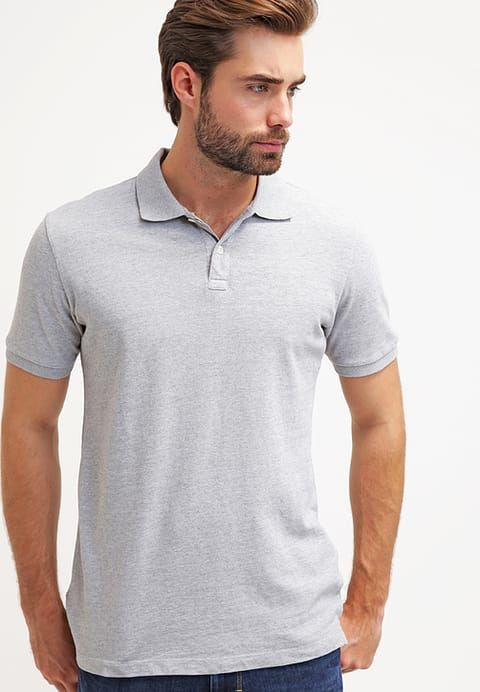SOLID - Poloshirt - heather gray - Zalando.co.uk