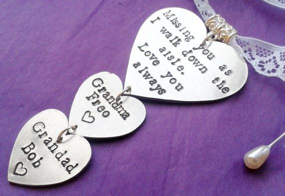 Fully Personalised memorial Bridal Bouquet Charm by HLBespoke