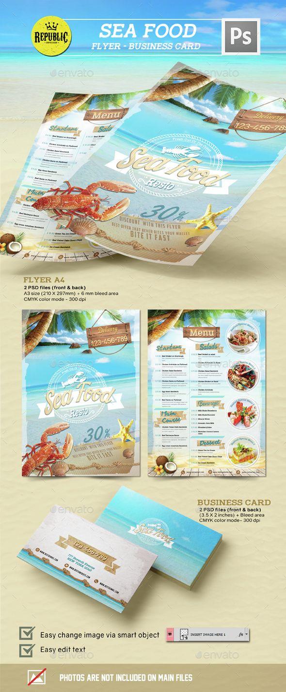 Seafood Restaurant 1. Restaurant Menu TemplateFood ...  Cocktail Menu Template Free Download