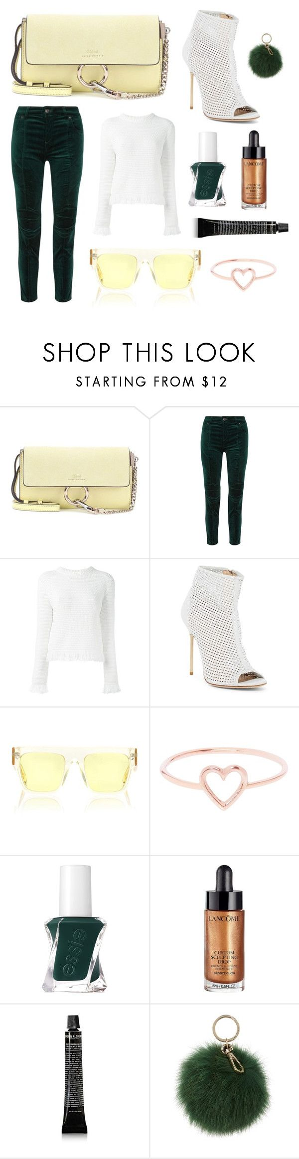 """Hero Piece"" by cathy-ranjan ❤ liked on Polyvore featuring Chloé, Pierre Balmain, Proenza Schouler, Jerome C. Rousseau, STELLA McCARTNEY, Love Is, Essie, Lancôme and Coccinelle"