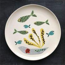 Fish Dinner Plate  by Hannah Turner