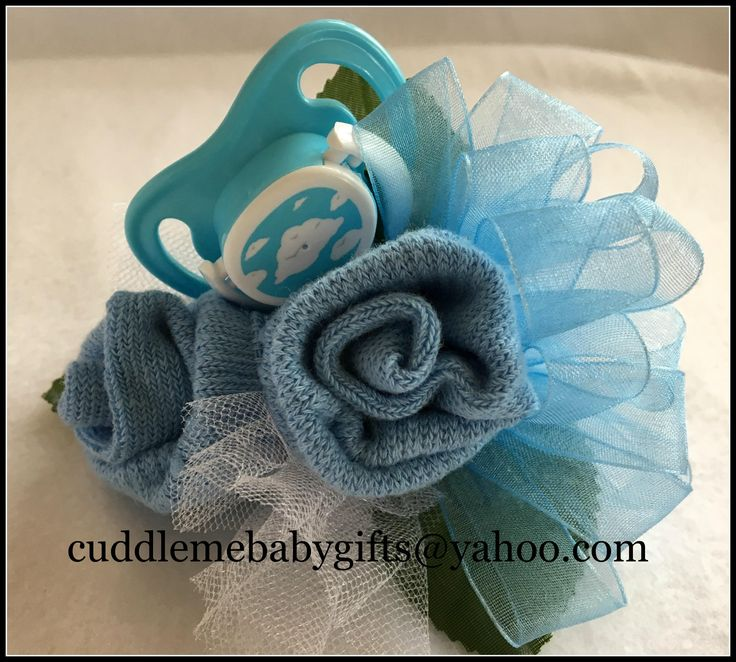 Baby Boy Baby Shower Baby Sock Corsage Baby Shower Decor Baby Shower Favor Baby Shower Gift by CuddleMeBabyGifts on Etsy @etsy @huggies @babiesrus
