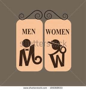 Toilet Sign Men Women