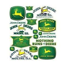 JOHN DEERE STICKERS DECALS Tractor Pedal Model cars Stickers Scrapbooking nice