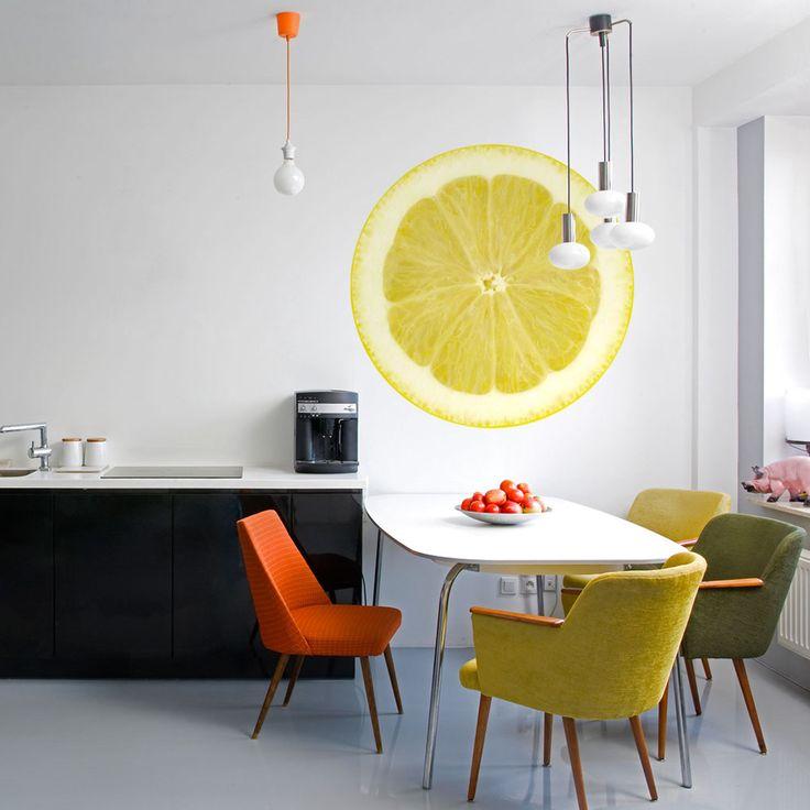 """Naklejka na ścianę 3D, stickers """"Kwaśna cytryna"""". Dekoracja na ścianę do kuchni i nie tylko doda smaku aranżacji mieszkania!"""