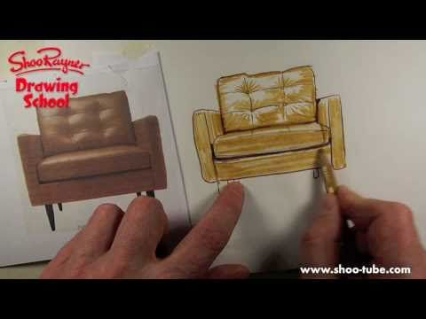 How to Trace & Colour a Shiny Leather Chair