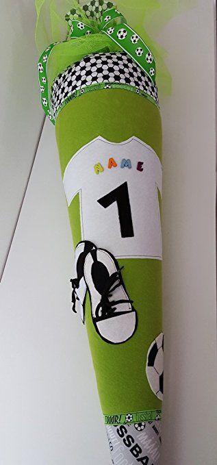 Schultüte Nähset Fußball, 85 cm, verwandelbar als Kissen, mit Namen