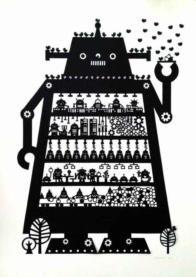 Paper cut illustration by Chihiro Takeuchi