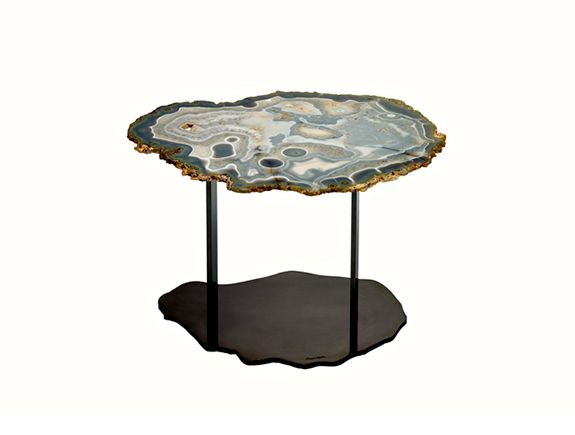 HOLLY HUNT Brenda Houston Agate Stone Side Table. Available At The DD  Building Suite 503
