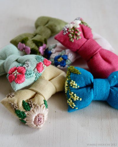 Embroidered Bows by Higuchi