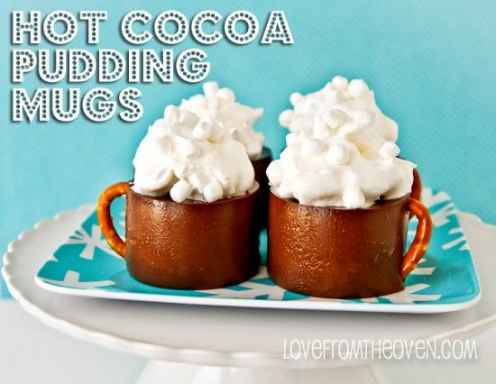 Jell-O Hot Cocoa Pudding Mugs at Love From The Oven