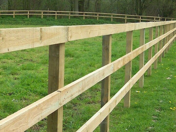 60m LONG POST AND 3 RAIL FENCING -  JUST £6.67 PER METRE... Paddock fencing